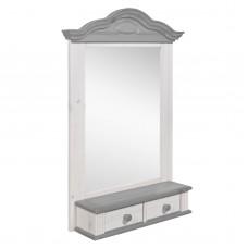 Полка - зеркало модель Синди, Серый