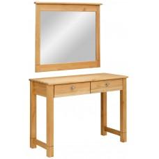 Стол туалетный Рауна с зеркалом бейц/масло