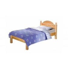 Кровать Лотос (0,9) без задней спинки, лак/старение