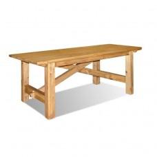 Стол обеденный Лотос , браширование: белый с патиной/мокка
