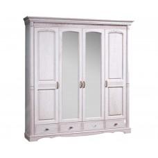 Шкаф 4-х дверный с зеркалом Паола