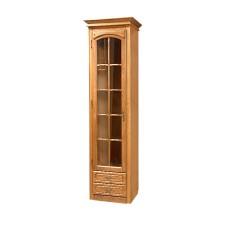 Шкаф с витриной Элбург (правая дверь, полки деревянные)