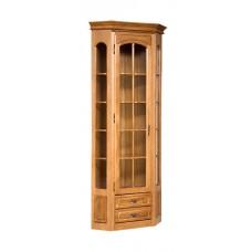 Шкаф с витриной Элбург (левая дверь, полки деревянные)
