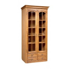 Шкаф с витриной Элбург (полки деревянные)