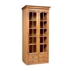 Шкаф с витриной Элбург (полки стеклянные)